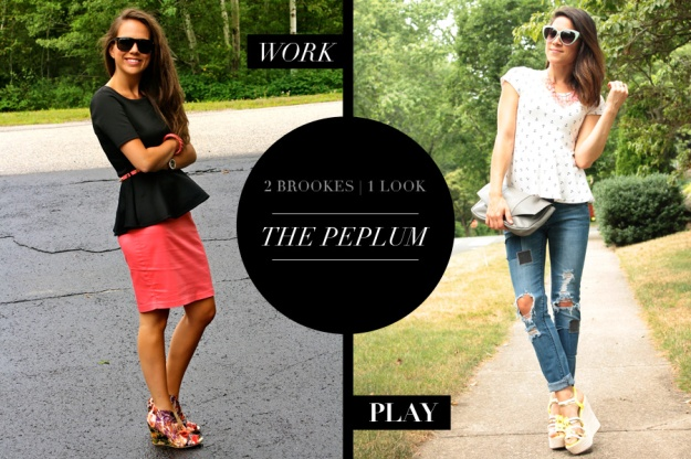 2 Brookes 1 Look - The Peplum